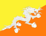 flag of Bhutan 150x120 - Nations, Nationalities and Languages in Farsi A-H