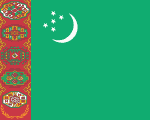 flag of Turkmenistan 150x120 - Nations, Nationalities and Languages in Farsi T-Z